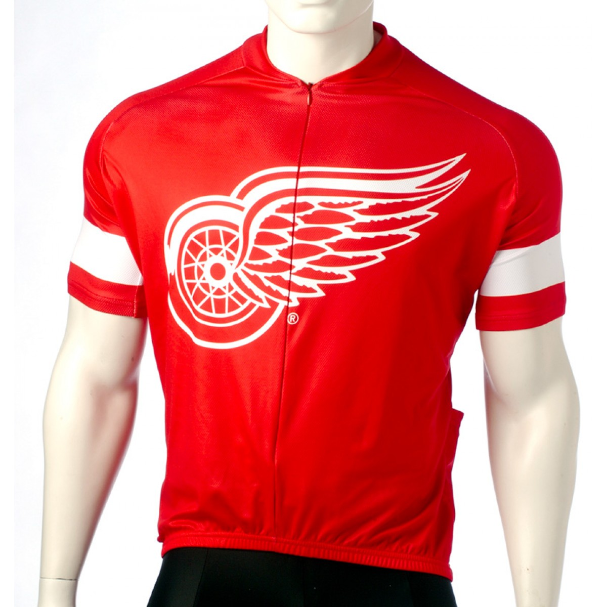 NHL Team Detroit Red Wings Cycling Jersey Short Sleeve