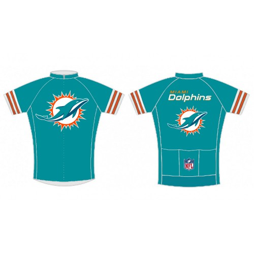 NFL Miami Dolphins Short Sleeve Cycling Jersey Bike Clothing