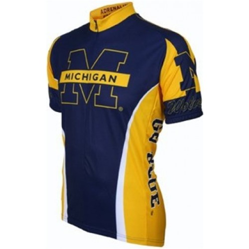 UM Umich University of Michigan Wolverines Cycling  Short Sleeve Jersey