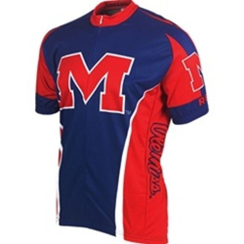 Ole Miss University of Mississippi Rebels Cycling  Short Sleeve Jersey