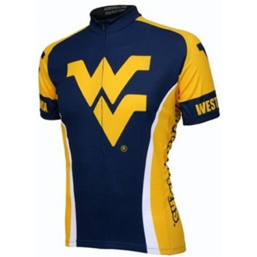 West Virginia Mountaineers Cycling  Short Sleeve Jersey