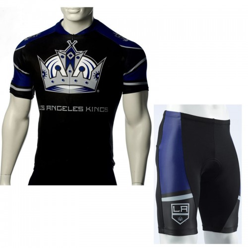 NHL Team Los angeles kings Cycling Jersey Bike Clothing Cyclist Outfit Cycle Garb Shorts Set Kit