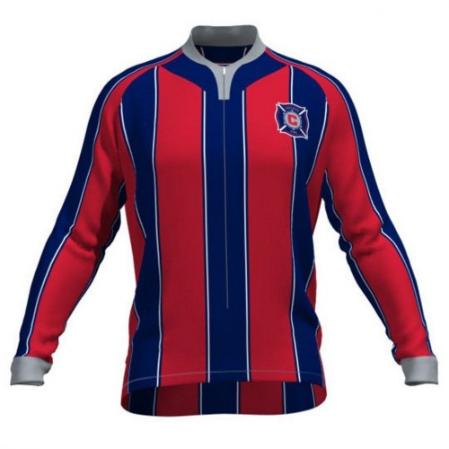MLS CHICAGO FIRE Long Sleeve Cycling Jersey Bike Clothing Cycle Apparel Shirt Outfit ropa ciclismo