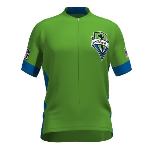 MLS Seattle Sounders FC Short Sleeve Cycling Jersey Bike Clothing Cycle Apparel