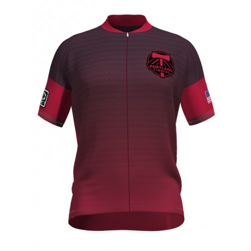 MLS Portland Timbers Short Sleeve Cycling Jersey Bike Clothing Cycle Apparel