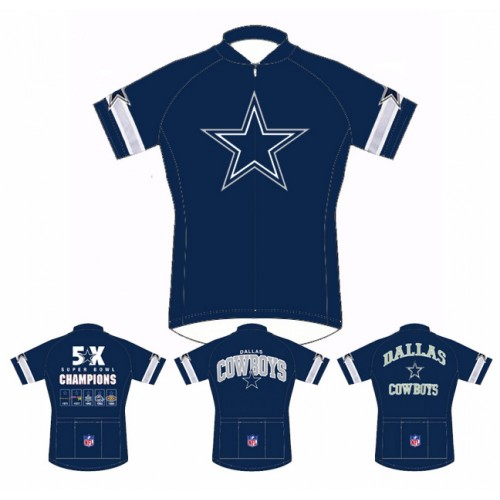 NFL Dallas Cowboys Home Cycling Short Sleeve Jersey