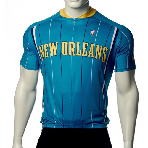 NBA New Orleans Hornets Cycling Jersey Short Sleeve