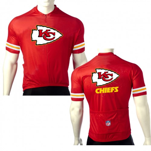 NFL kansas city chiefs Cycling Short Sleeve Jersey