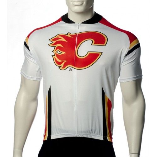 NHL Calgary Flames Cycling Jersey Short Sleeve
