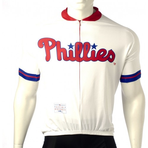 MLB Philadelphia Phillies Cycling Jersey Short Sleeve