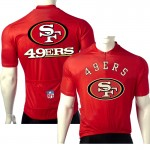 NFL  San Francisco 49ers NINERS Cycling  Short Sleeve Jersey